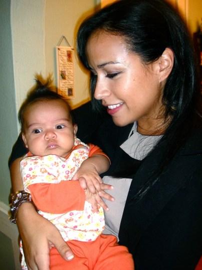 Little baby Soraya with her sweet cheeks
