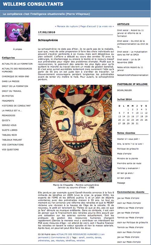 Willems consultants - Schizophrénie