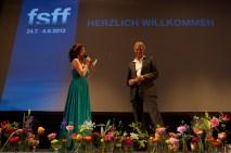 Eröffnung 2013 mit Festivalleiter Matthias Helwig