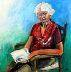 2012 Mijn Moeder - Acryl op katoen 70 x 70 cm