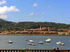 View of Fuenterrabía in Spain from the Caneta harbor - France
