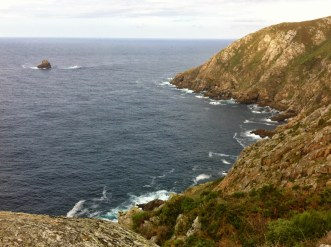 View of the Atlantic sea and cliffs from Finisterre - Spain
