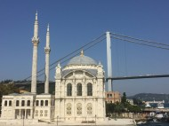 Beautiful mosque by the Bosphorus strait