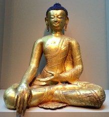 Buddha figure - Sculpture of South Asia and the Himalayas exhibit at the Sackler Gallery