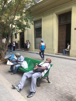 Random people in the streets of Havana