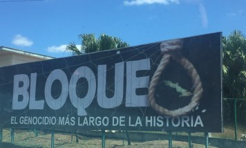Propaganda about the blockade