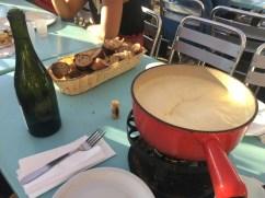 Geneva - fondue at Bains des Pâquis