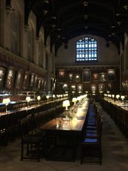 Christ Church's impressive Dining Hall