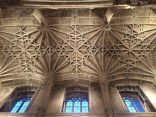 Beautiful ceiling above the stairs leading to Christ Church Dining Hall