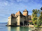 The imposing Chillon castle