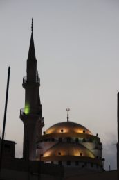 A mosque at sunset in Madaba