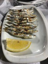 Sardines 'espeto'