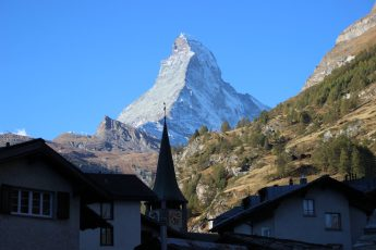 A view to the Zermatt from our hotel