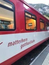 Our train to Zermatt