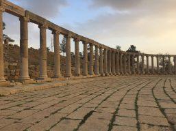 The elegant Oval Forum of Jerash