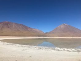 The Laguna Verde with the Licancabur volcano in the background