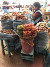 Selling potatoes at the Mercado Central