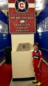 Seth at the Chicago Fire Facilities