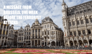A Message from Brussels…