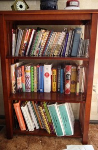 cookbook bookshelf