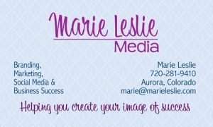 2-sided business card front