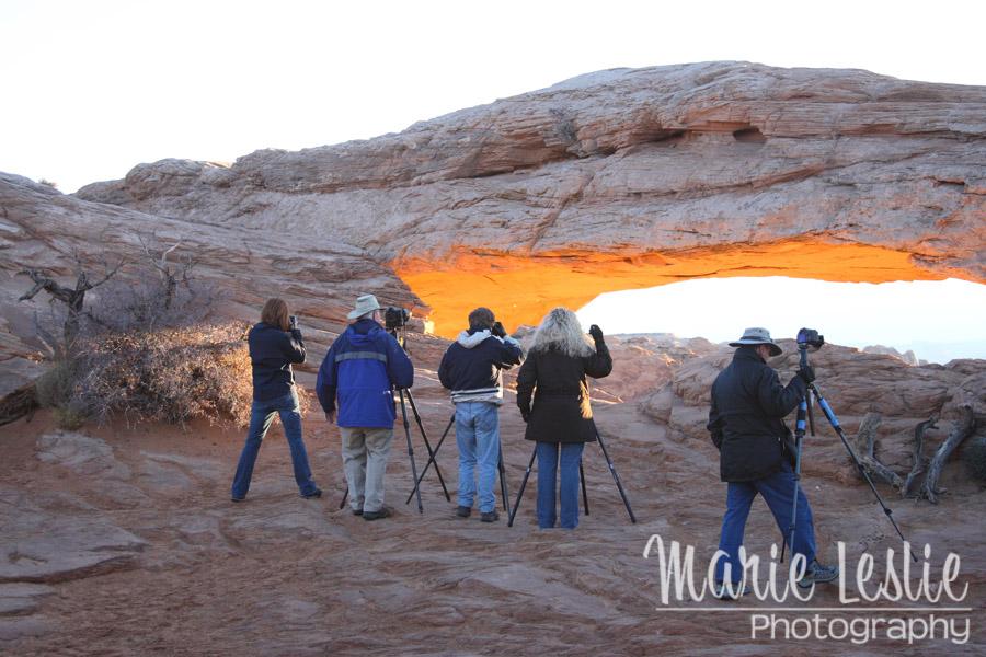 Photographers at Mesa Arch, Canyonlands National Park