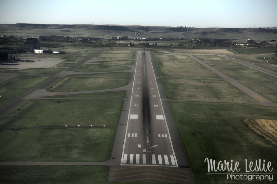 aerial photography landing strip