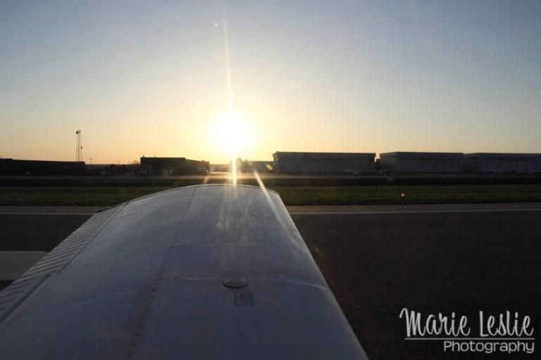 aerial photography sunrise