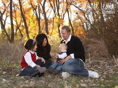 family portrait, fall portrait, family