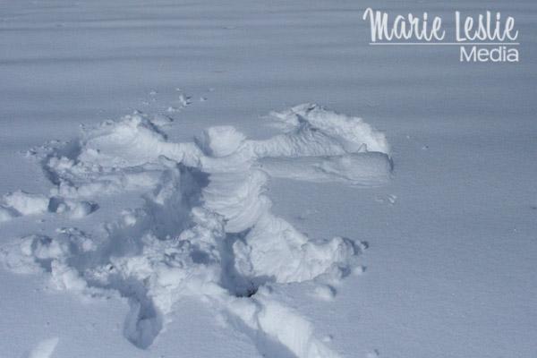 ©Marie Leslie, snow angel