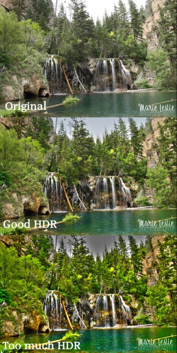 hanging lake, hdr