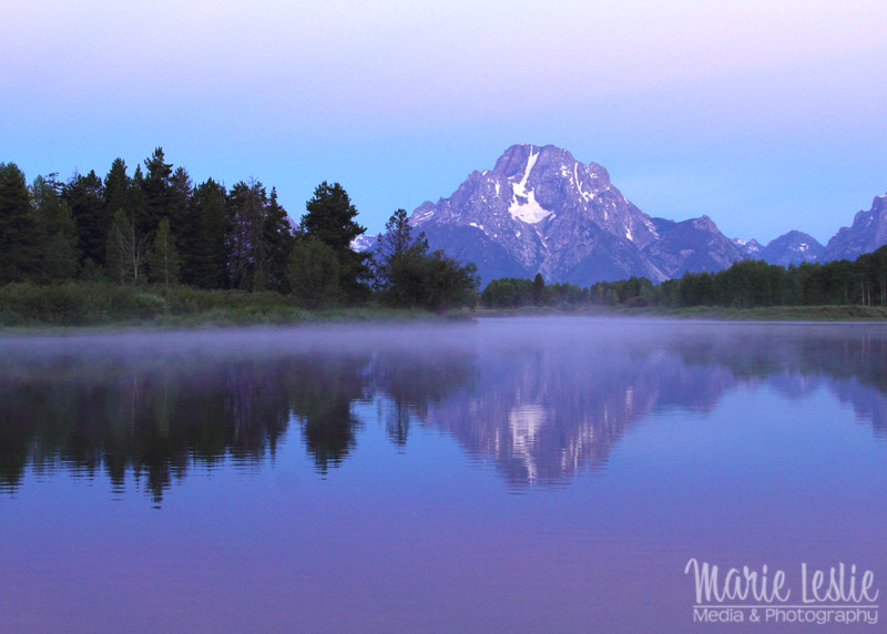 oxbow bend grand teton early morning