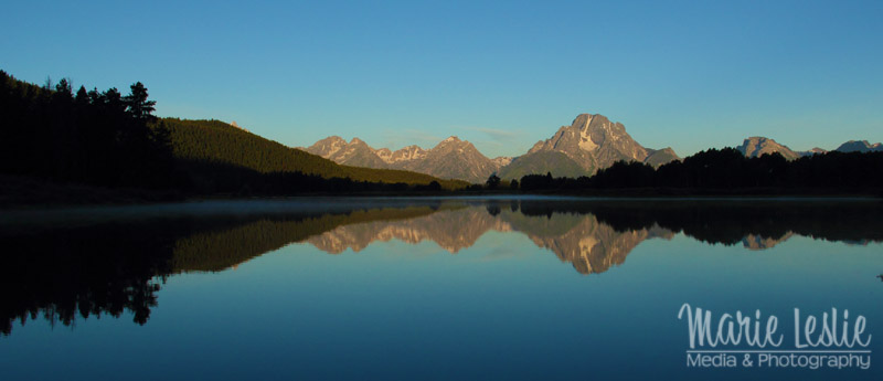 oxbow bend grand teton sun up