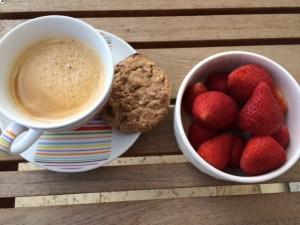 Mi desayuno para brindar por lo que traerá el próximo año.