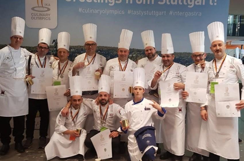 Medaglia d'argento per gli chef del Team Campania alle Olimpiadi di cucina