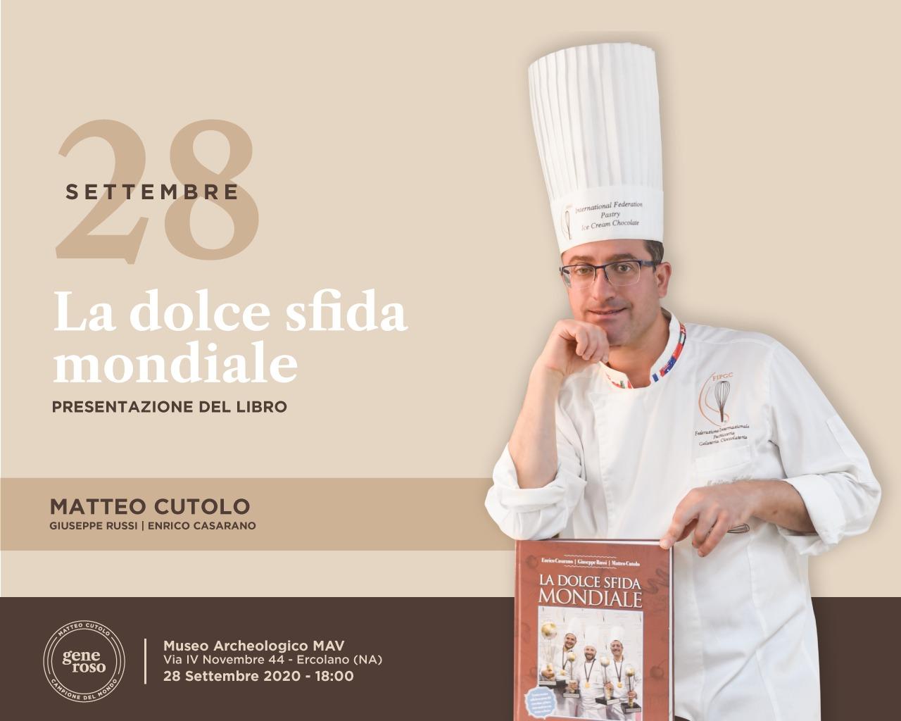 """Matteo Cutolo racconta in un libro """"La dolce sfida mondiale"""""""