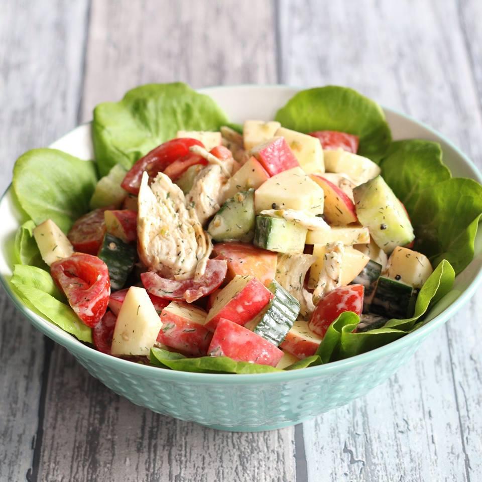 frisse-lunchsalade-met-kip-en-appel