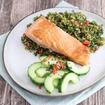 Zalmfilet met quinoa en boerenkool
