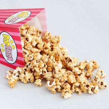 Zelfgemaakte caramel popcorn