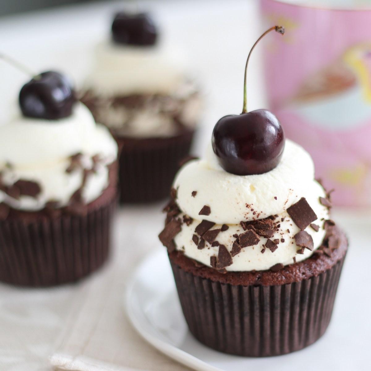 Schwarzwalder cupcakes