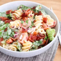 BLT pastasalade met Ranch dressing