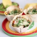 tortilla cups met gehaktvulling