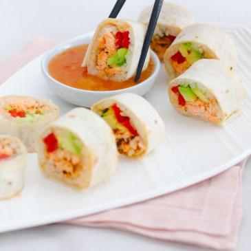 Mexicaanse sushi met zalm