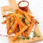 Echt krokante zoete aardappel frietjes