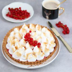rode bessen meringue taart met rode bessen van berrybrothers