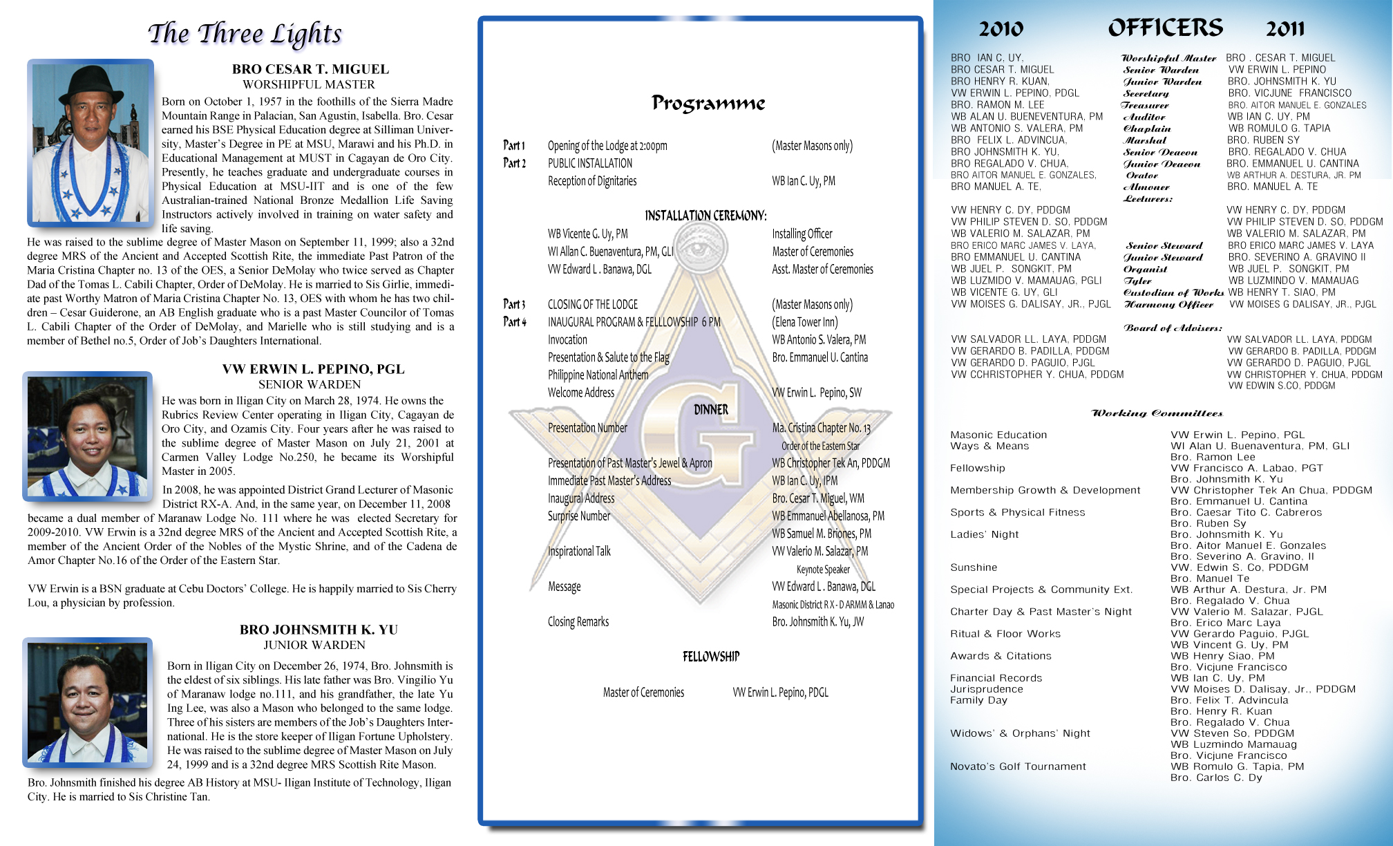 Free And Accepted Masons Installation Of Officers