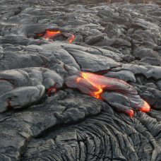Lava streams starting to flow