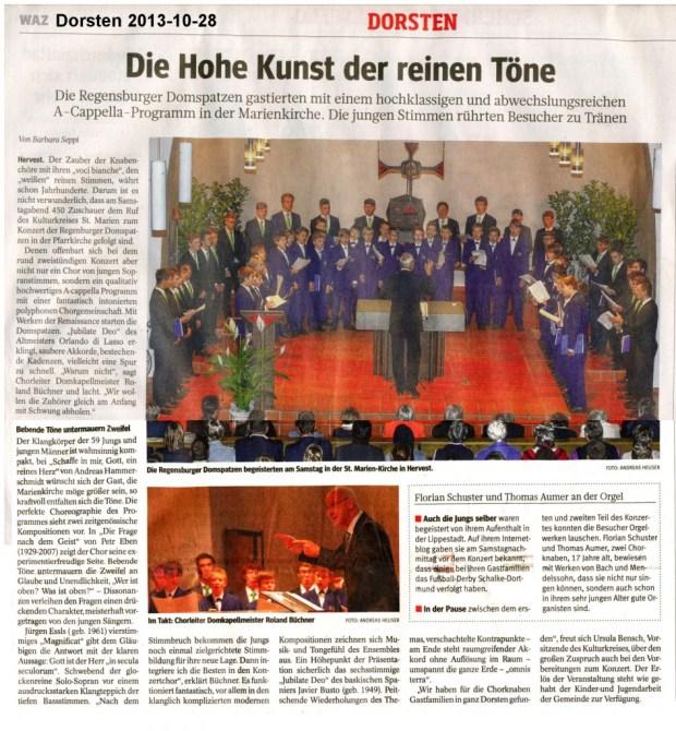 2013-10-28 Domspatzen WAZ