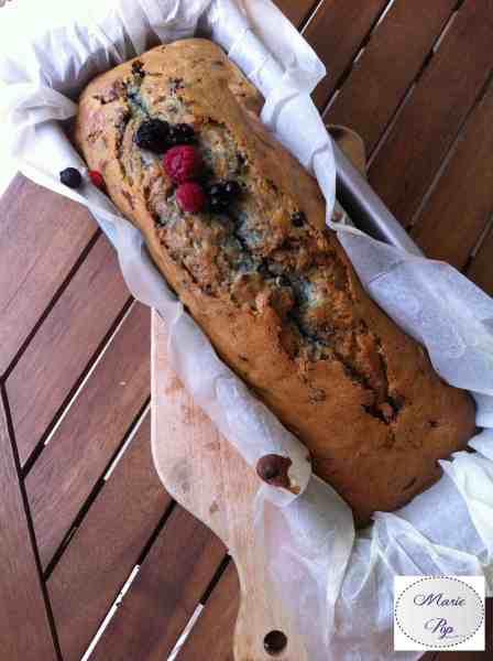 Cake aux fruits rouges - la recette