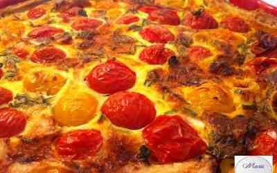 Tarte tomate cerise, chèvre et ciboulette… Marie Pop en perd un peu la tête !